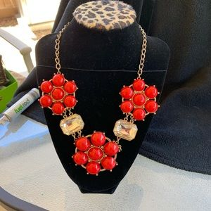 Red ,Gold Necklace